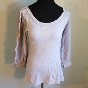 Free People shirt with embellished sleeves, Med.